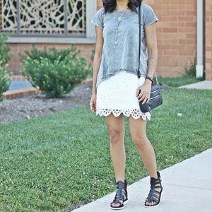 Dresses & Skirts - Eyelet skirt